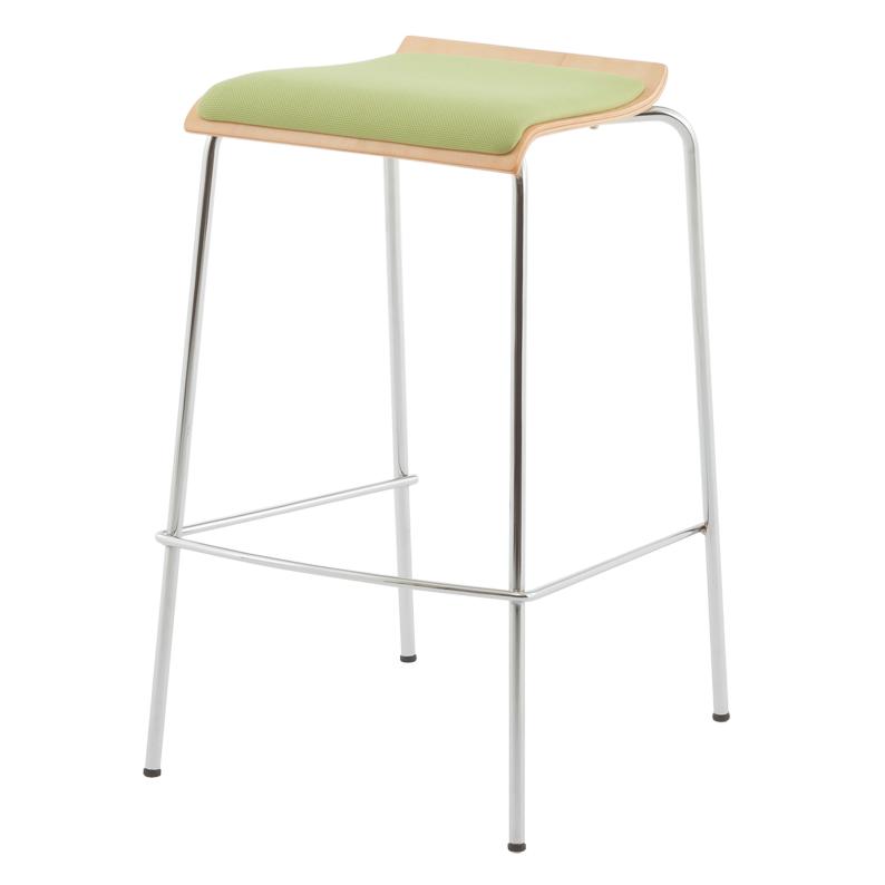 ローバックハイチェア パッド付き グリーン(2脚入り)RFC-FPHGNJ-2SET アールエフヤマカワ RFyamakawa 椅子 ハイスツール カウンターチェア バースツール
