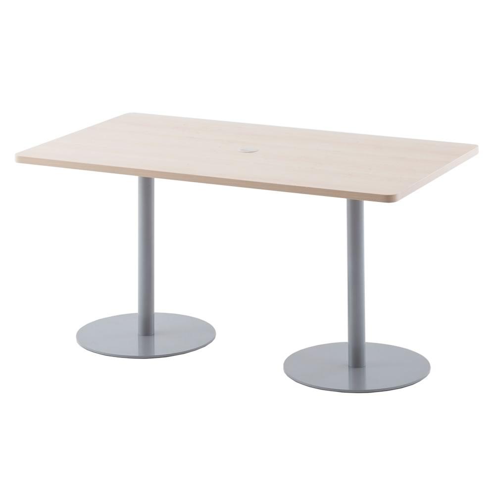 応接ミーティングテーブル W1400xD800 / ナチュラル RFRT-1480NA【送料無料】【代引き不可】 アールエフヤマカワ RFyamakawa 2本脚 長方形 打ち合わせ 休憩スペース
