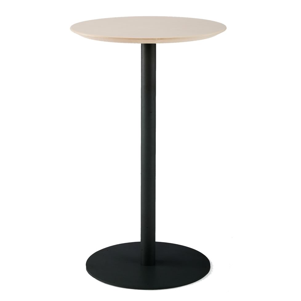 リフレッシュハイテーブル4 φ600 ナチュラル RFRT-HTV4【送料無料】  アールエフヤマカワ RFyamakawa 丸テーブル ラウンド 円形 1本脚 直径60cm 高さ100cm