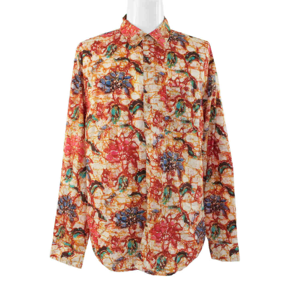 シュプリーム Acid Floral Shirt・18AW 長袖シャツトップス/L/レッド×オレンジ×グリーン系/Supreme【オールシーズン】【♂】【A】【メンズ】■221334【中古】