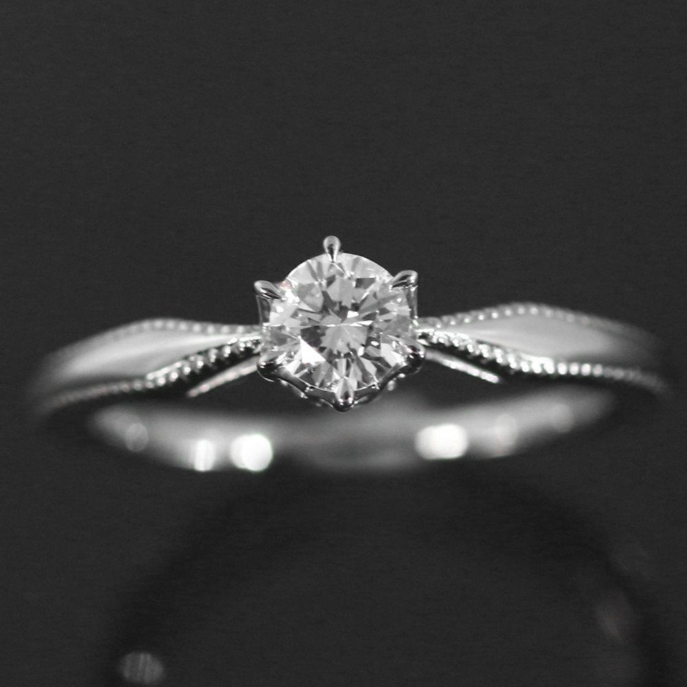 アガット ダイヤモンド エンゲージ・マリッジ リング・ミル打ち・指輪 Pt900 3 1g 0 205ct EVS1VG N DGL ダイヤモンドグレーディングラボラトリー 6号46 agete ♀Nレディースh181117RF5221557OZukTXiwP