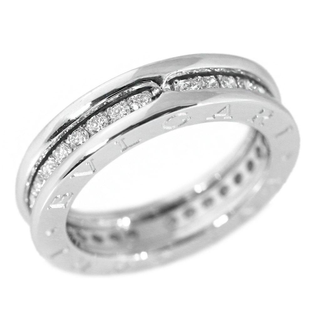 ebd64e41253a2 Bulgari B zero one /B-ZERO1 .1 band full diamond ring, ring  /K18WG/750-5.8g/10 /#50/ white gold /BVLGARI/h181124 ■ 222673