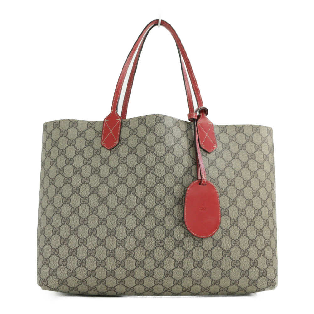 09f76f11887 Gucci GG スプリーム medium tote bag   reversible  368568  beige   red  GUCCI b190313  □ 282837