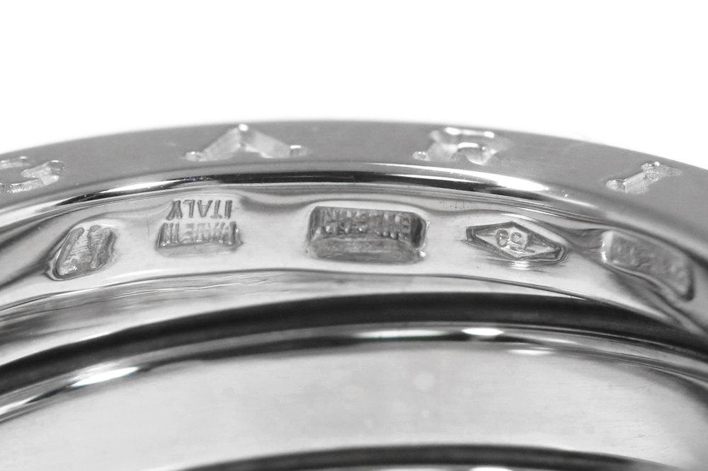 ブルガリ ビーゼロワン B ZERO1・3バンド・リング・指輪 K18WG 750 8 8g 7号47 ホワイトゴールド BVLGARI ♀Nレディースh190919RF3307488P8OwkXn0