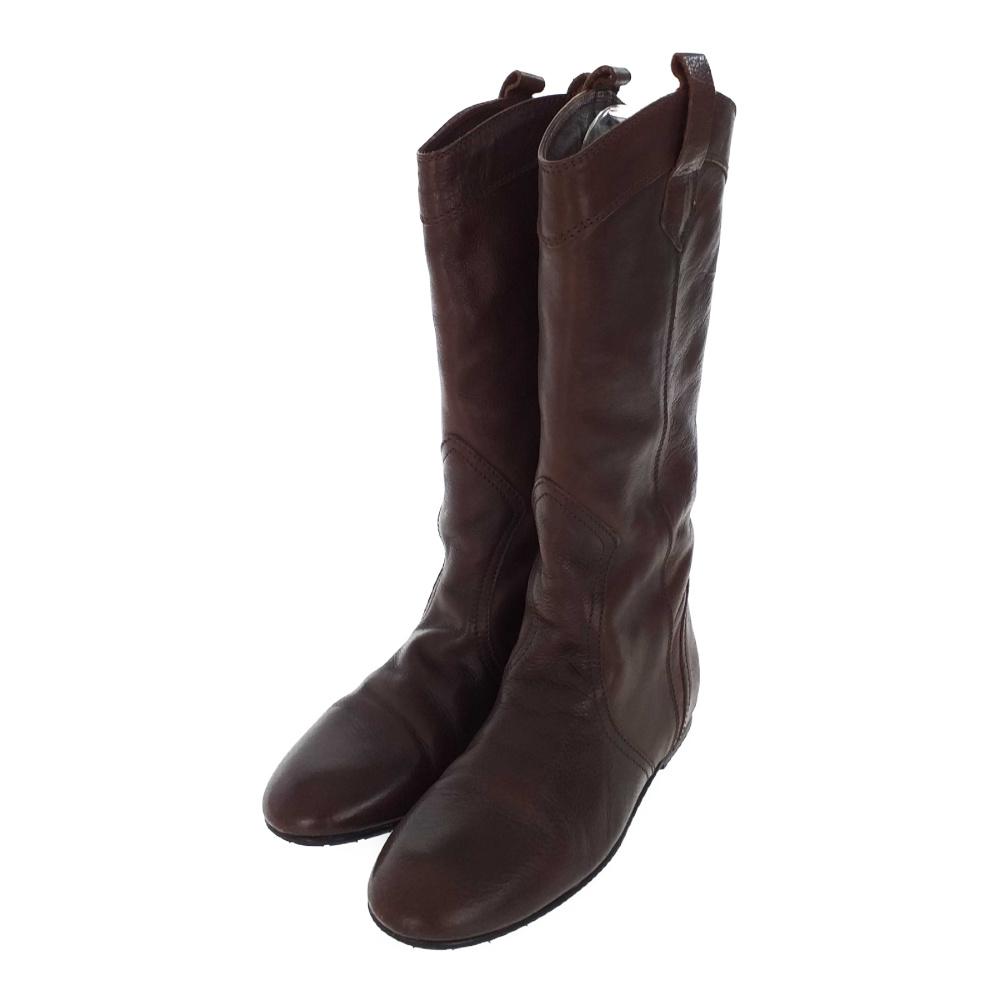 ファビオルスコーニ ブーツ靴 フラット/8803G/35/ダークブラウン/FABIO RUSCONI【春秋冬】【♀】【B】【レディース】/b191225■323645【中古】