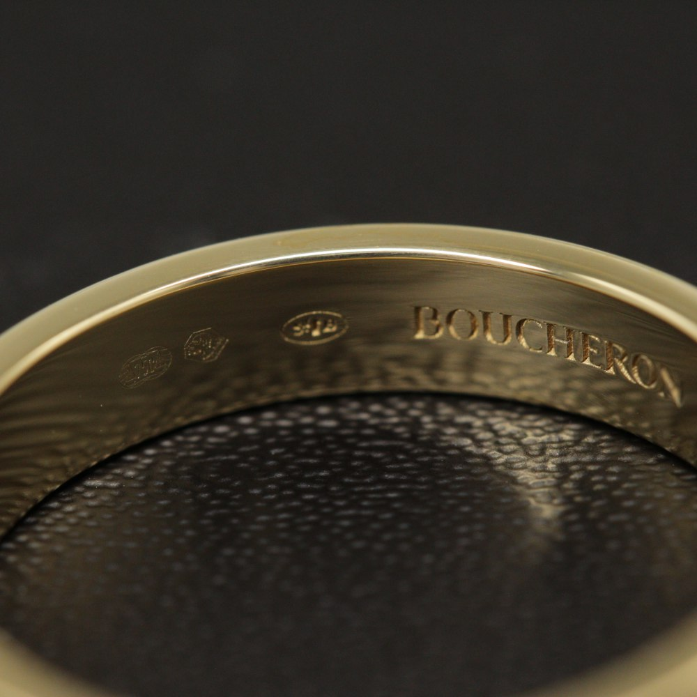 ブシュロン キャトル・ラディアント・リング・指輪 K18YG 750 4 3g 14号54 イエローゴールド BOUCHERON ♂♀Nユニセックスh200225 330038JTlKc1F