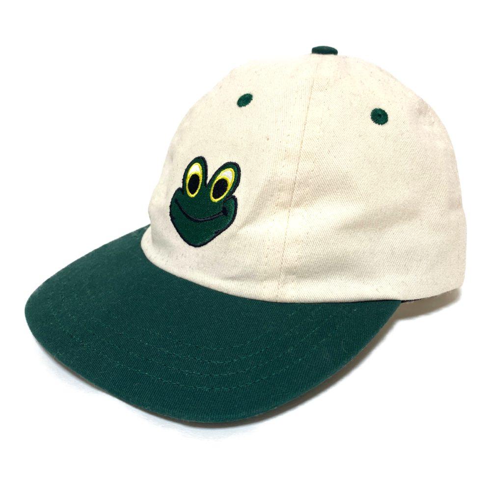 ルックスタジオ FROG MAN HAT・ベースボールキャップ(BBキャップ)帽子 6 Panel/グリーン×オフホワイト/LQQK STUDIO【オールシーズン】【♂♀】【B】【ユニセックス】/b200425★【RF1】■340497【中古】