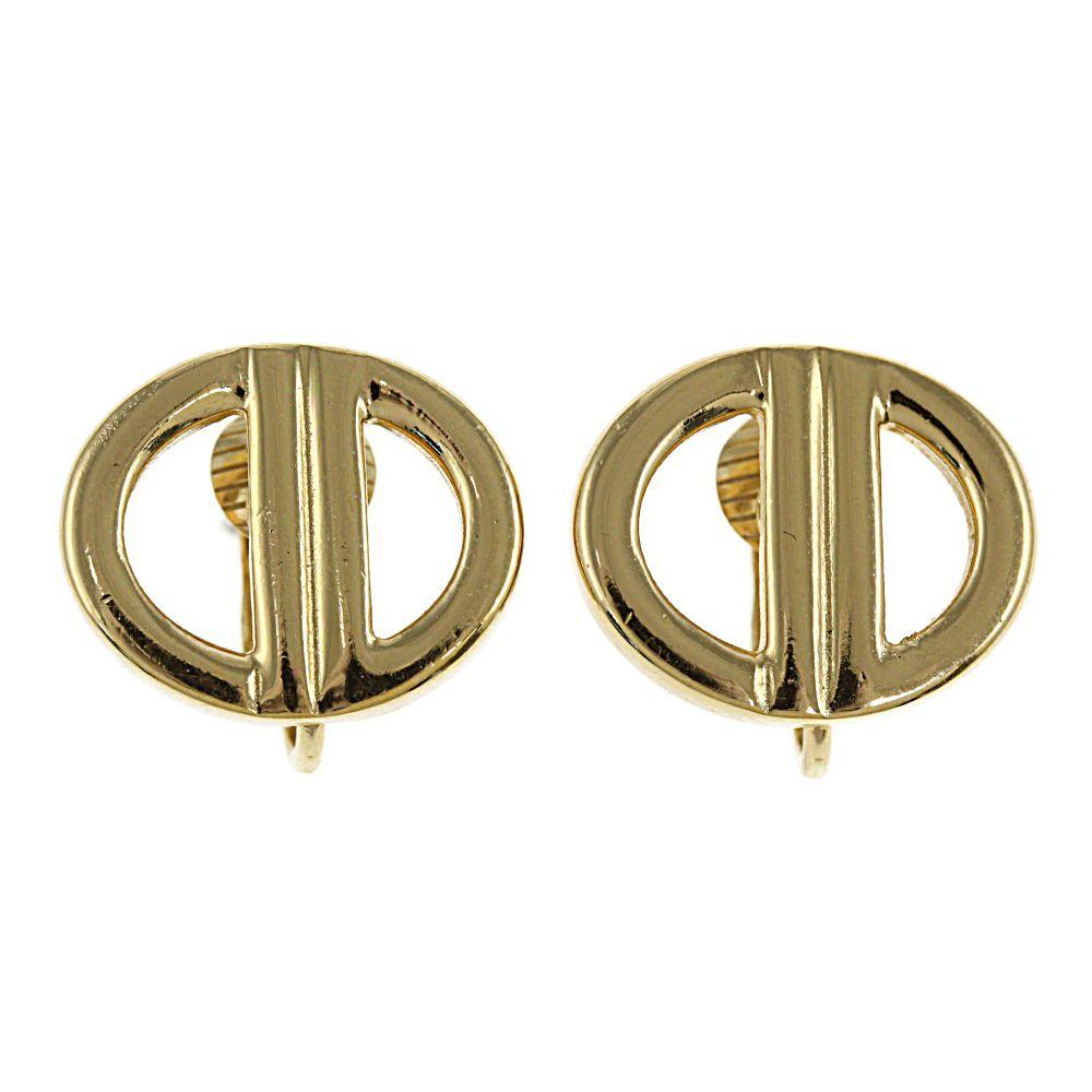 クリスチャンディオール ロゴイヤリング/合金/メッキ-6.5g/ゴールド/Christian Dior【♀】【B】【レディース】/h200721★【RF1】■352732【中古】