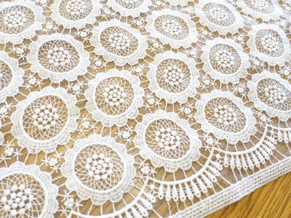 レース生地 日本最大級の品揃え 刺繍 生地 布 ナイロンシャー RG-29063nr 全面柄レース 高級品 花柄