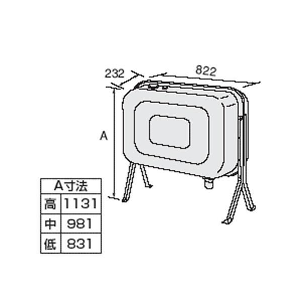 訳あり商品 ノーリツ 浴室暖房乾燥機 石油給湯器用オイルタンク 容量85リットル WEB限定 FT-92S