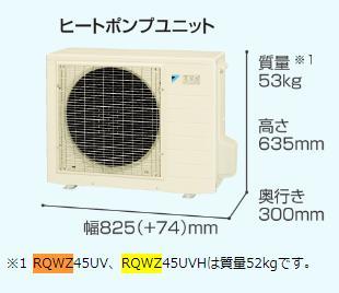 交換用ヒートポンプユニット ダイキン RQWZ60UV 一般地 6.0kW