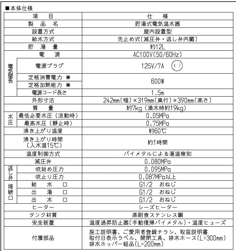 TOTO 湯ぽっと RES12AL 小型電気温水器 RE-Sシリーズ