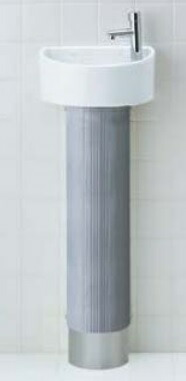 トイレ LIXIL INAX トイレ手洗器 狭小手洗シリーズ YL-C33DHB トラップカバータイプ 床給水・床排水 アクアセラミック