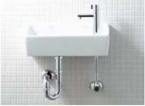 トイレ LIXIL INAX トイレ手洗器 狭小手洗シリーズ L-A35HC Pトラップ 手洗タイプ(角形)ハイパーキラミック 壁給水・壁排水
