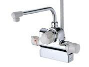 水栓金具 浴室用シャワー TOTO 水栓金具 浴室用シャワー用 【TMJ48EZ】2ハンドル混合水栓 台付けタイプ エアインシャワー ※寒冷地用