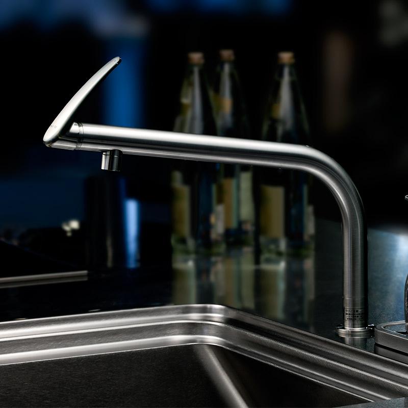 水栓 キッチン おしゃれ トーヨーキッチンスタイル (TOYO KITCHEN STYLE) 水栓 ウサギ ロングノーズ ステンレスフィニッシュ A29529NVLS-TK