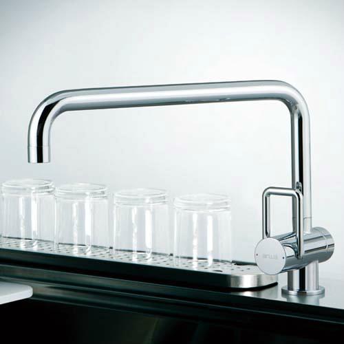 水栓 キッチン おしゃれ トーヨーキッチンスタイル (TOYO KITCHEN STYLE) 水栓 シングルレバー混合水栓 クローム A89532BS-CR