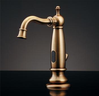 水栓 混合栓 カクダイ 水栓金具 【713-332】 センサー水栓(オールドブラス)
