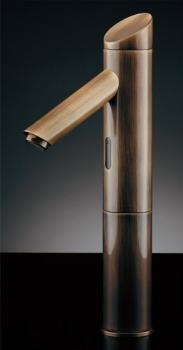 水栓 混合栓 カクダイ 水栓金具 【713-321-AB】 センサー水栓(トール・オールドブラス)旧品番【713-334】