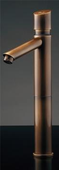 水栓 混合栓 カクダイ 水栓金具 【716-319-13】 自閉立水栓(トール・オールドブラス)