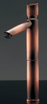水栓 混合栓 カクダイ 水栓金具 【716-316-13】 自閉立水栓(トール・ブロンズ)