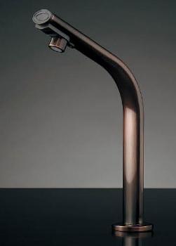 水栓 混合栓 カクダイ 水栓金具 【239-002-3】 小型電気温水器(センサー水栓つき・ブロンズ)