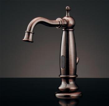 水栓 混合栓 カクダイ 水栓金具 【713-328】 センサー水栓(ブロンズ)