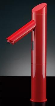 水栓 混合栓 カクダイ 水栓金具 【713-336】 センサー水栓(トール・レッド)