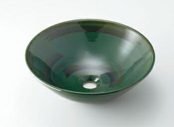 手洗い器 和風 カクダイ 手洗器 【493-046-GR】 丸型手洗器//青竹