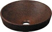 手洗い器 和風 カクダイ 手洗器 【493-012-M】 丸型手洗器//窯肌