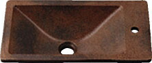 手洗い器 和風 カクダイ 手洗器 【493-010-M】 角型手洗器//窯肌