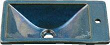 手洗い器 和風 カクダイ 手洗器 【493-010-CB】 角型手洗器//孔雀