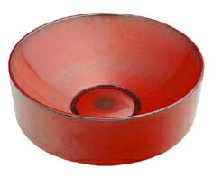 手洗い器 和風 カクダイ 手洗器 【493-023-R】 丸型手洗器//鉄赤