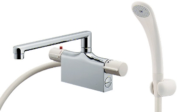 水栓 混合栓 カクダイ 水栓金具 【175-001K】 サーモスタットシャワー混合栓(デッキタイプ)