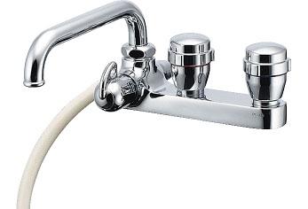 水栓 混合栓 カクダイ 水栓金具 【152-302】 2ハンドルシャワー混合栓