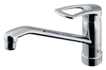 水栓 混合栓 カクダイ 水栓金具 【117-061K】 シングルレバー混合栓(分水孔つき)