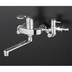 浴室 水栓 シャワー 水栓金具 KVK 【KM5000CHTTU】 シングルレバー式混合栓(給水給湯接続タイプ・分岐止水栓付)