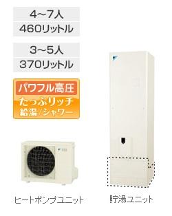 エコキュート 370L ダイキン(DAIKIN) エコキュート 【EQ37NV】 370L 角型 給湯専用
