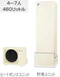 エコキュート 460L ダイキン(DAIKIN)エコキュート 【EQN46RV】 Sシリーズ給湯専用らくタイプ 460L パワフル高圧 たっぷリッチ給湯/シャワ 角型(高圧給湯170kPa)