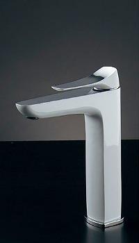 蛇口 水栓金具 カクダイ(KAKUDAI) 水栓金具シリーズ 【183-183GN】 日本デザイン 雪 シングルレバー混合栓(トール)
