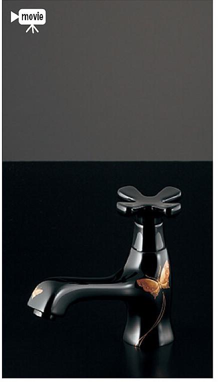 洗面 手洗 水栓金具 カクダイ 洗面手洗水栓金具【716-843-13】立水栓 取付穴径22-27ミリ・厚5-35ミリ