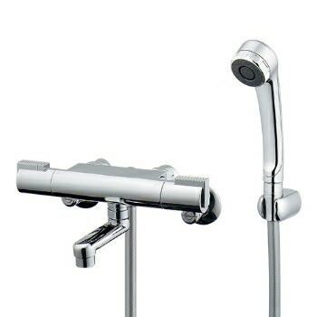 混合栓 シャワー カクダイ サーモスタットシャワー混合栓(壁付) 【173-216K】