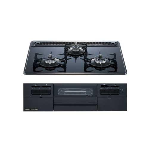 ガスコンロ ノーリツ  N3WQ6RWTS fami 60cmタイプ スノーブラックホーローゴトク ブラックガラストップ ブラックフェイス