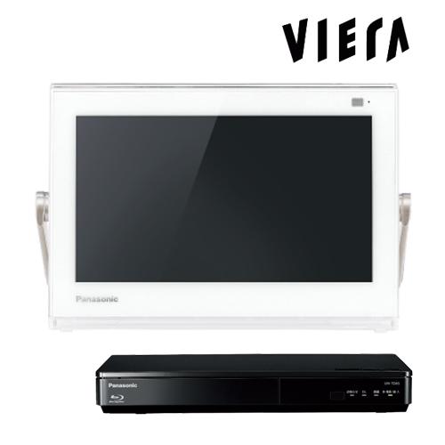 パナソニック プライベート・ビエラ UN-10TD6-W ホワイト 10V型 ポータブルテレビ HDDレコーダー付 地デジ・BS・110度CS