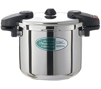 ワンダーシェフ ミドルサイズ 610225 プロ仕様両手圧力鍋 業務用 8L(NMDA80)