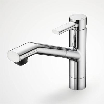 浴室 水栓 シャワー 水栓金具 KVK 【KM908】シングルレバー式シャワー付混合栓 equalシリーズ