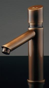 水栓 混合栓 カクダイ 水栓金具 【716-318-13】 自閉立水栓(オールドブラス)