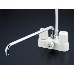 浴室 水栓 シャワー 水栓金具 KVK 【KF2008R3】 デッキ形2ハンドルシャワー