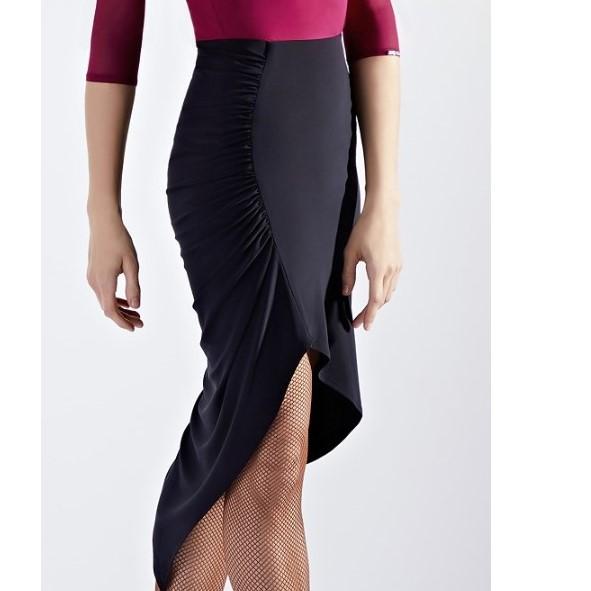 《送料無料》クリスアン・クローバー社製  ディヴァイン・ラテンスカート 黒 ブラック サイズS(9号) 社交ダンス