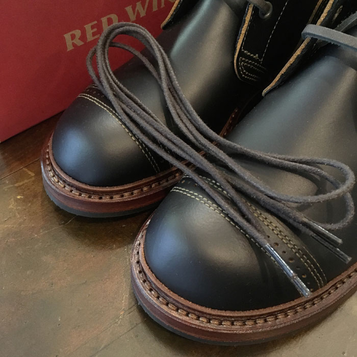 52366dbb40e8 RED WING x Nigel Cabourn Collaboration MUNSON B-5 CHUKKA BLACK 2017AW  COLLECTION